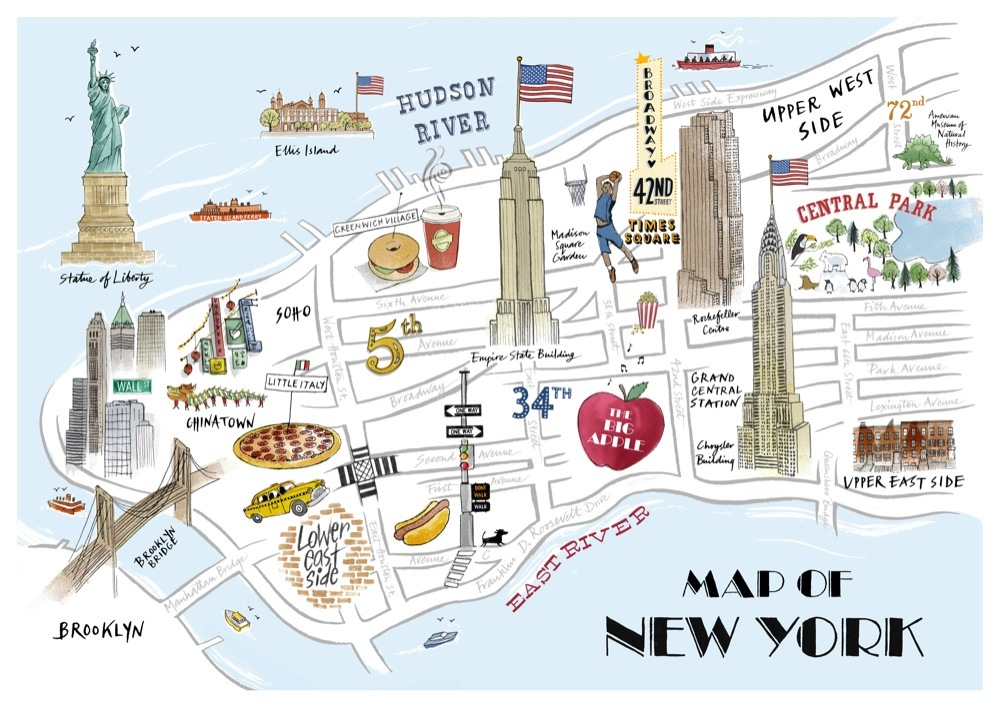 New York Shopping Streets Map – Map Of New York Tourist Attractions