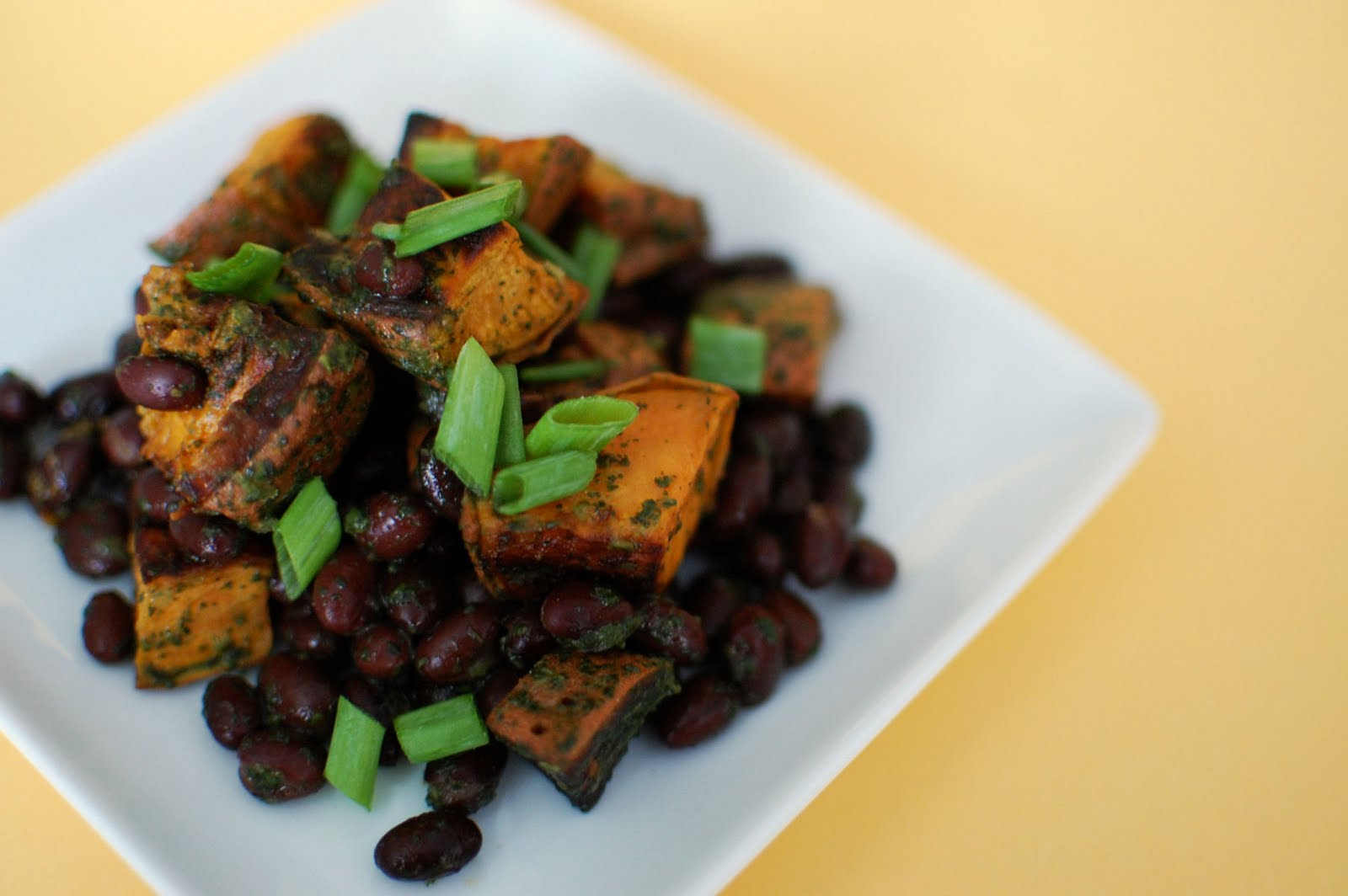 Lime Cilantro Sweet Potatoes with Black Beans | Beantown Baker