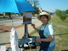 BJ painting en plein air