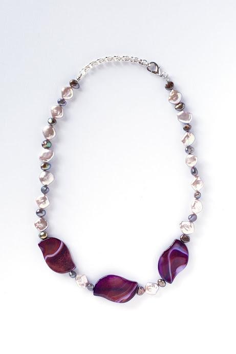Collana Agata e perle fiume