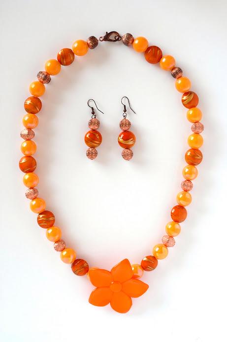 Collana Fiore Arancio