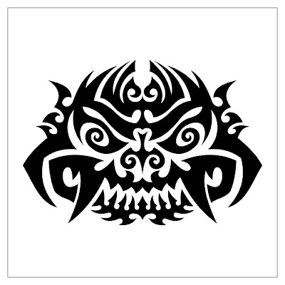 Two Broken Heart Tribal Tattoo tribal dragon tattoo Oni Mask Tribal Tattoo