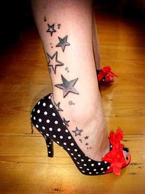 star tattoo on foot. Foot Tattoo Ideas. Star Foot