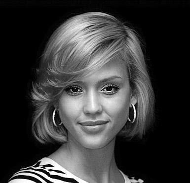 jessica alba short hairstyles. Jessica Alba Haircut. jessica