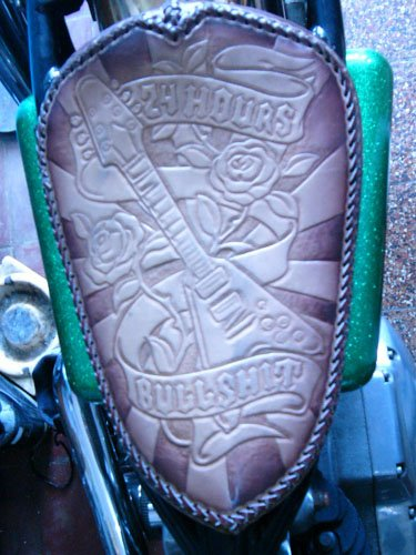 custom seat leather tooled