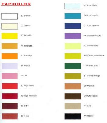 papeles verjurados colores