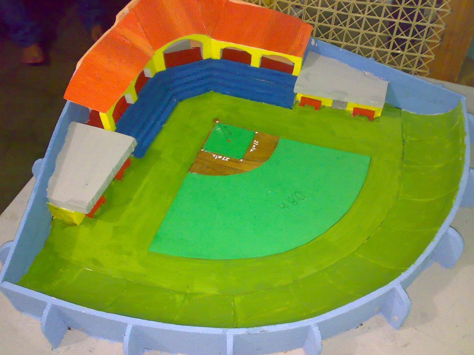 Maqueta De Una Cancha De Beisbol