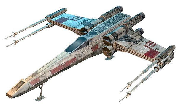 Star Wars X-Wing Paper Model