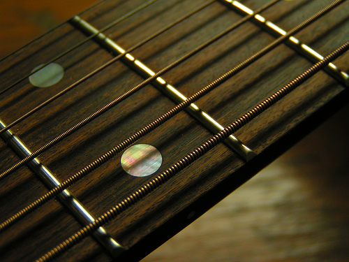 Guitar wallpaper   Very Nice Looking Fretboard with Steel Strings