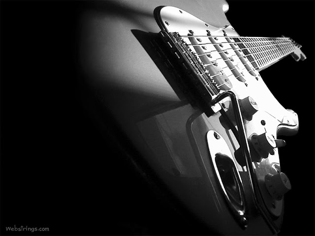 Black and White Photo of a Fender Stratocaster Electric Guitar buy electric guitars online