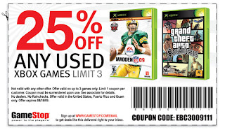 photo about Printable Gamestop Application identified as Gamestop: Printable for 25% off Applied XBox Game titles