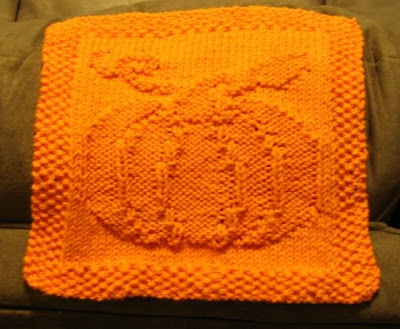 Pumpkin Dishcloth Knitting Pattern - Stay Puffed
