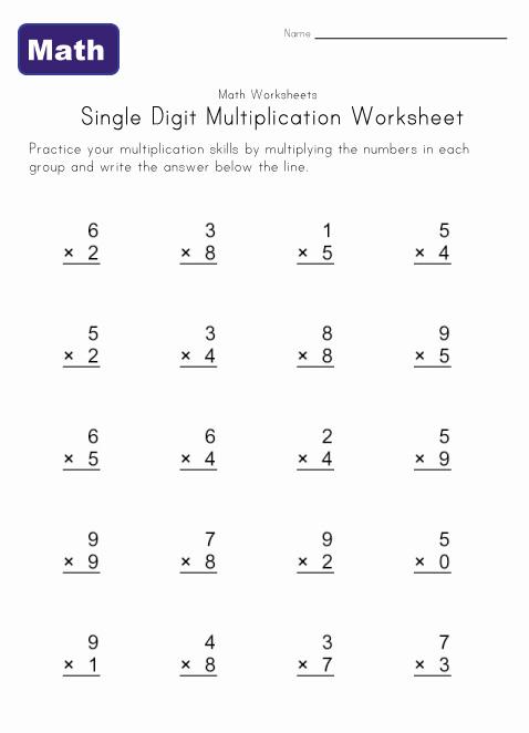 Number Names Worksheets » Random Multiplication Questions - Free ...