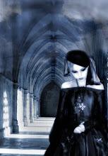 foto gótica en blanco y negro