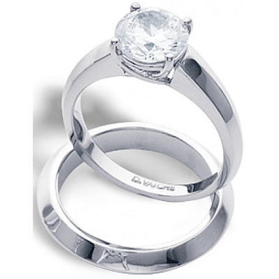 Solitaire Diamond Wedding Rings White Gold