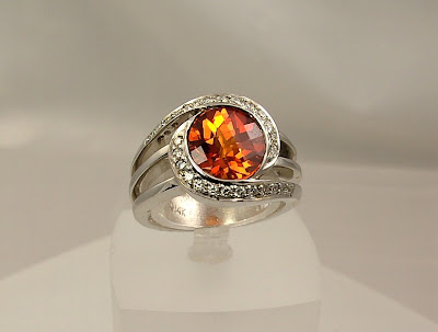 Gold Wedding Rings Luxury Gold Wedding Ring With Padparadscha