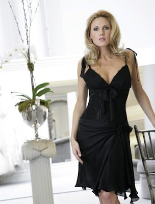 Black casual wedding dress