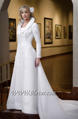 Collar wedding dress
