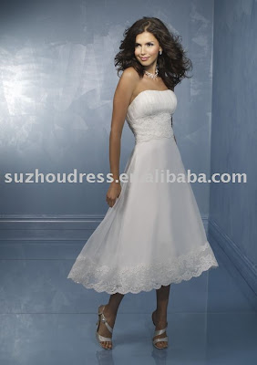 Tea length wedding dress