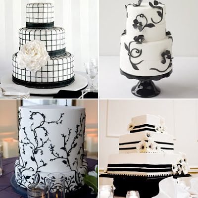 Best Black and White Wedding Cakes