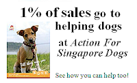 1% of sales go to help abused dogs