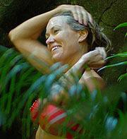Cerys Matthews red bikini