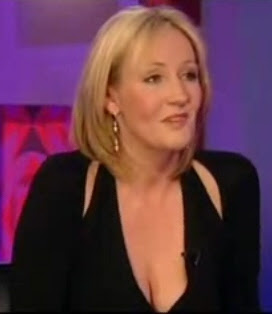JK Rowling cleavage on Jonathan Ross show