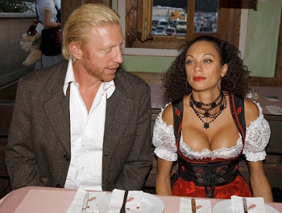 Boris enjoys Sharlely Kerssenberg cleavage