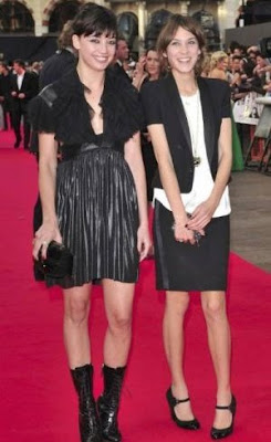 Daisy Lowe and Alexa Chung at The Dark Knight