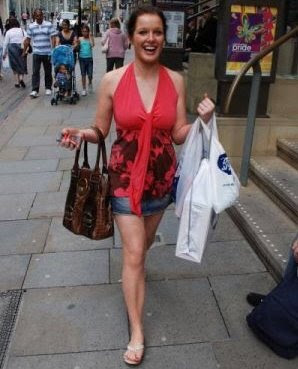 Helen Flanagan shopping
