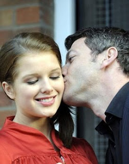 Helen Flanagan kissed