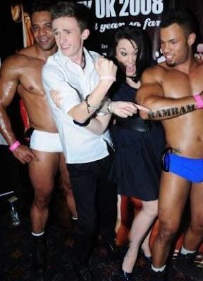 Luke Marsden and Rebecca Shiner at Mr Gay UK