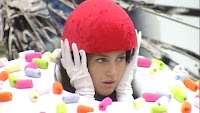 Rachel Rice as a cupcake