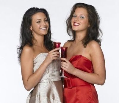 Helen Flanagan with Michelle Keegan