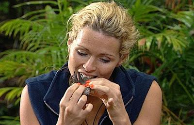 Nicola McLean eating a crocodile foot