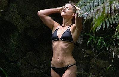 Dani Behr bikini shower