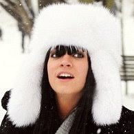 Lily Allen Prada fox fur hat