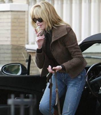 Melanie Griffith smoking