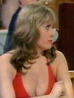 Wendy Richard showing her cleavage as Miss. Brahms
