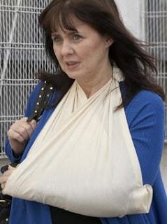 Coleen Nolan broken wrist