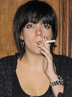 Lily Allen with cigarette