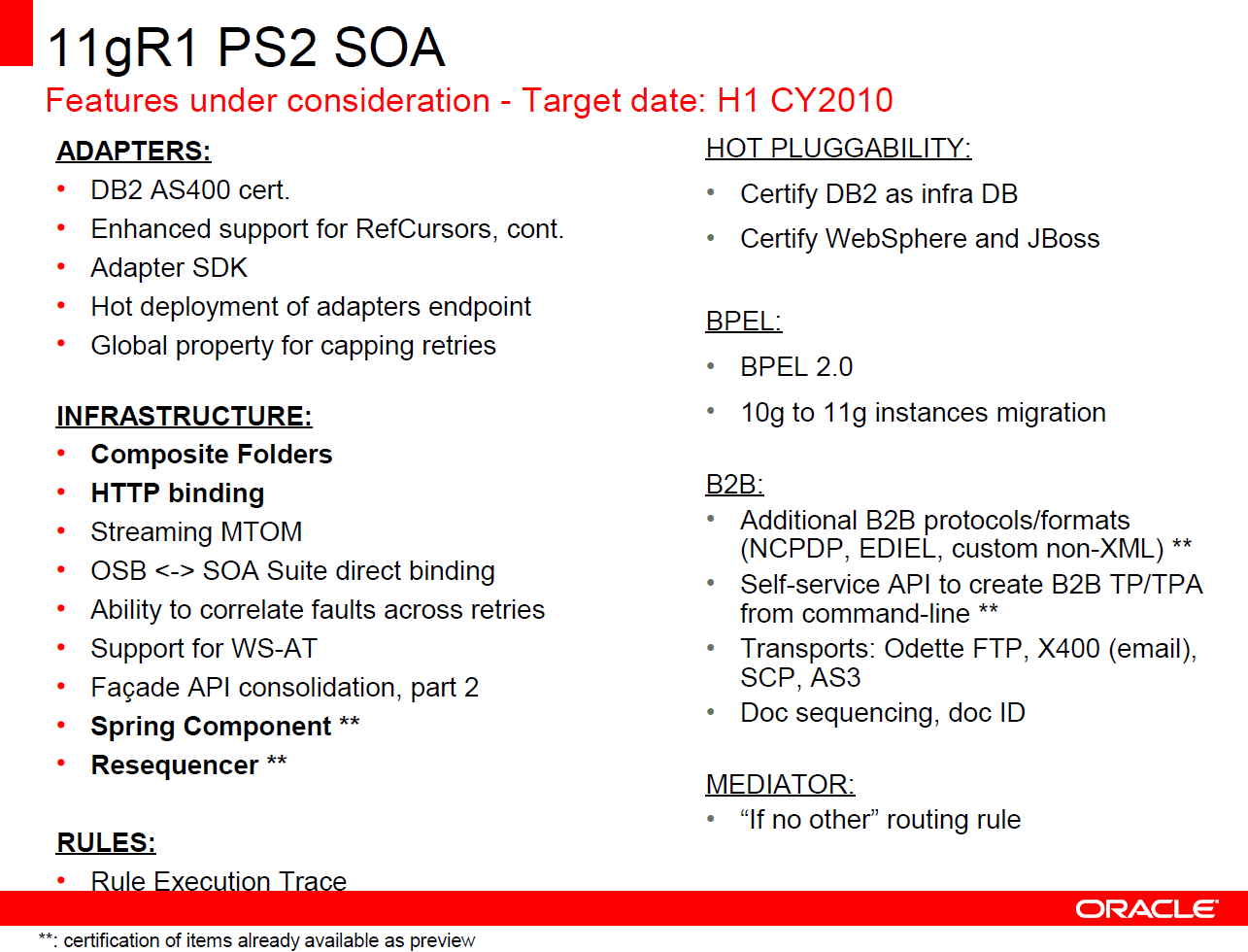 Oracle soa adf oracle soa suite 11g roadmap ps2 will probably bring us composite folders domains bpel 20 spring support in production direct binding between osb and soa suite 1betcityfo Image collections