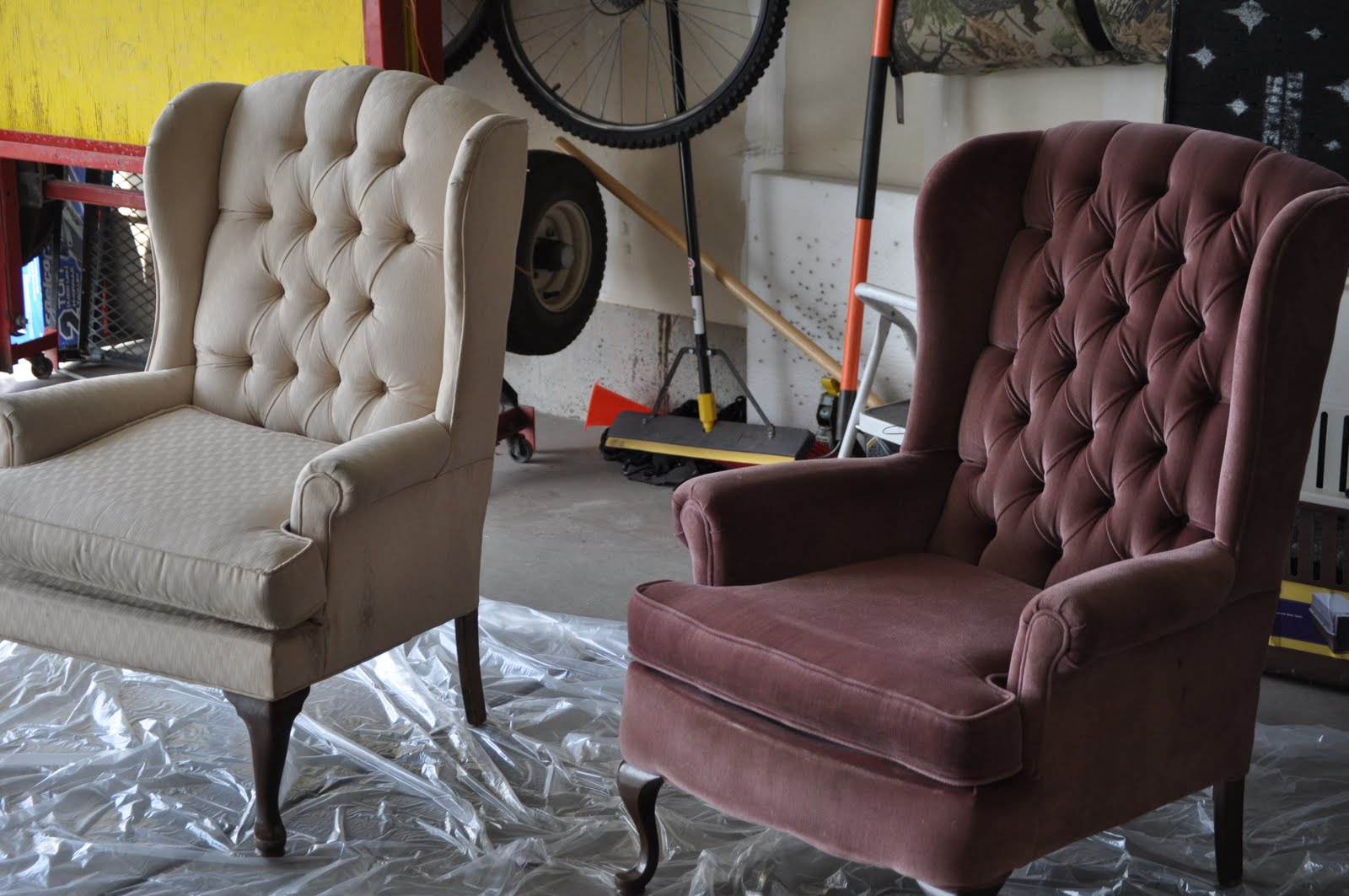 Delicious Purple Tufted Halloween Wingback Chairs