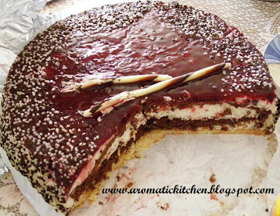 Stracciatella Cherry torte