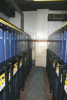 Sistema de baterías similar al que podría encontrarse en el piso 81 del WTC 2