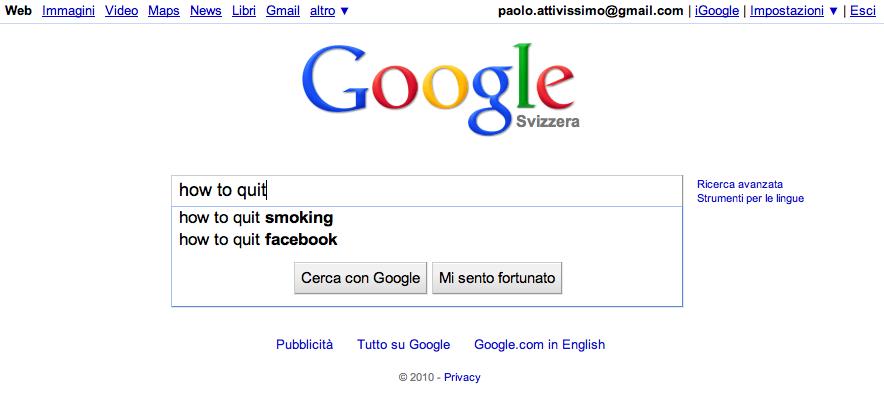 Parlare con frasi metà in italiano e metà in Facebook - frasi inglese italiano facebook