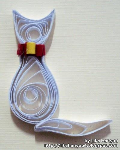 Loja Artesanato Osasco Primitiva Vianco ~ Lika Hanyuu uff0d Artesanato Quilling [Tutorial Quilling] Gatinho Simples