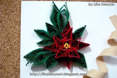 Aparador Antiguo Sevilla ~ Lika Hanyuu uff0d Artesanato Quilling [Tutorial Quilling] Flor de Natal