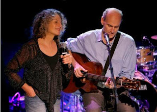 James Taylor and Carole King on stage
