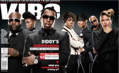 "Diddy And The Bad Boy Fam Covers ""Vibe"" Magazine"